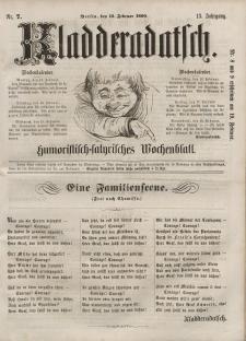 Kladderadatsch, 13. Jahrgang, 12. Februar 1860, Nr. 7