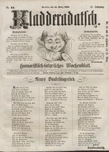 Kladderadatsch, 13. Jahrgang, 18. März 1860, Nr. 13