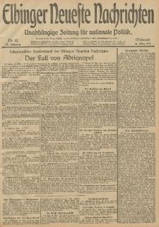 Elbinger Neueste Nachrichten, Nr. 82 Mittwoch 26 März 1913 65. Jahrgang