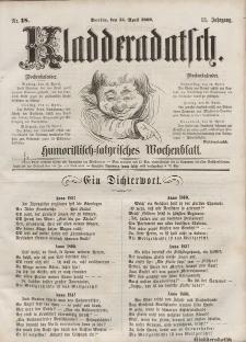 Kladderadatsch, 13. Jahrgang, 15. April 1860, Nr. 18