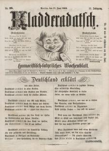 Kladderadatsch, 13. Jahrgang, 17. Juni 1860, Nr. 28