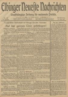 Elbinger Neueste Nachrichten, Nr. 83 Donnerstag 27 März 1913 65. Jahrgang