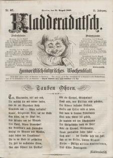 Kladderadatsch, 13. Jahrgang, 12. August 1860, Nr. 37
