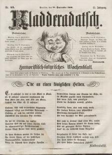 Kladderadatsch, 13. Jahrgang, 16. September 1860, Nr. 43
