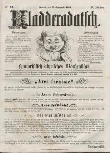 Kladderadatsch, 13. Jahrgang, 23. September 1860, Nr. 44