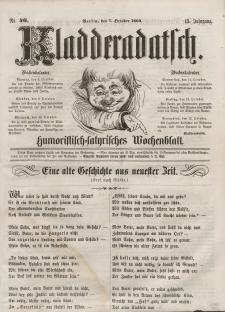 Kladderadatsch, 13. Jahrgang, 7. Oktober 1860, Nr. 46