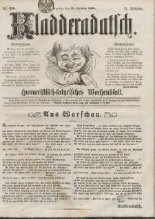 Kladderadatsch, 13. Jahrgang, 28. Oktober 1860, Nr. 49