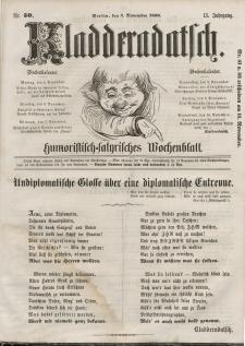 Kladderadatsch, 13. Jahrgang, 4. November 1860, Nr. 50