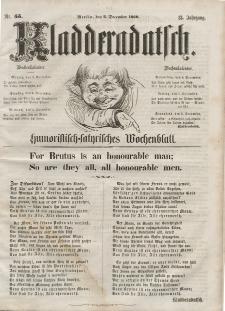 Kladderadatsch, 13. Jahrgang, 2. Dezember 1860, Nr. 55