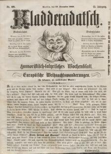 Kladderadatsch, 13. Jahrgang, 23. Dezember 1860, Nr. 58