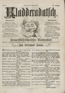 Kladderadatsch, 14. Jahrgang, 13. Januar 1861, Nr. 2