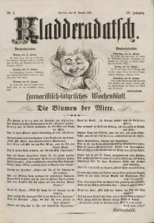 Kladderadatsch, 14. Jahrgang, 20. Januar 1861, Nr. 3