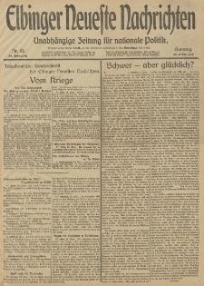 Elbinger Neueste Nachrichten, Nr. 86 Sonntag 30 März 1913 65. Jahrgang
