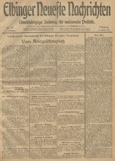 Elbinger Neueste Nachrichten, Nr. 87 Montag 31 März 1913 65. Jahrgang