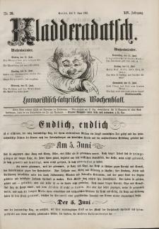 Kladderadatsch, 14. Jahrgang, 9. Juni 1861, Nr. 26
