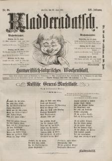 Kladderadatsch, 14. Jahrgang, 23. Juni 1861, Nr. 28