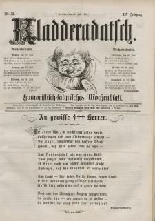 Kladderadatsch, 14. Jahrgang, 21. Juli 1861, Nr. 33