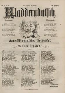 Kladderadatsch, 14. Jahrgang, 18. August 1861, Nr. 37/38