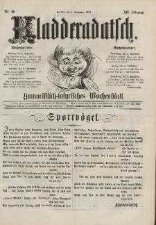 Kladderadatsch, 14. Jahrgang, 1. September 1861, Nr. 40