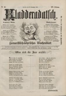 Kladderadatsch, 14. Jahrgang, 22. September 1861, Nr. 43