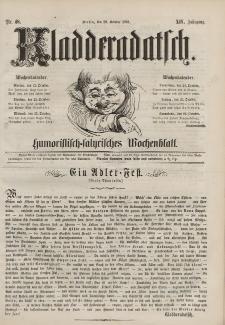 Kladderadatsch, 14. Jahrgang, 20. Oktober 1861, Nr. 48