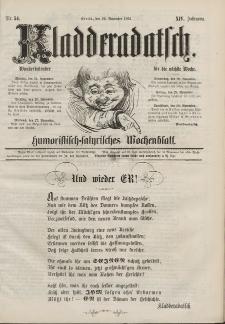 Kladderadatsch, 14. Jahrgang, 24. November 1861, Nr. 54