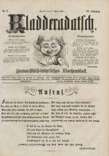 Kladderadatsch, 15. Jahrgang, 12. Januar 1862, Nr. 2