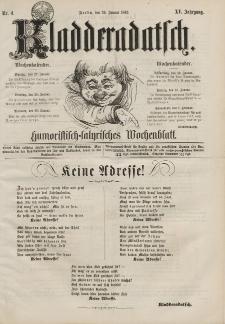 Kladderadatsch, 15. Jahrgang, 26. Januar 1862, Nr. 4