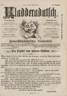 Kladderadatsch, 15. Jahrgang, 16. Februar 1862, Nr. 7