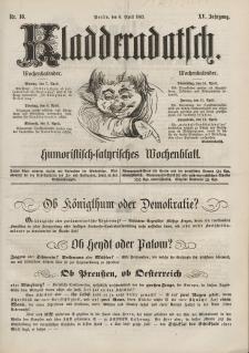 Kladderadatsch, 15. Jahrgang, 6. April 1862, Nr. 16