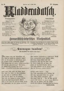 Kladderadatsch, 15. Jahrgang, 11. Mai 1862, Nr. 21