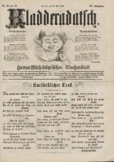 Kladderadatsch, 15. Jahrgang, 18. Mai 1862, Nr. 22/23