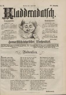 Kladderadatsch, 15. Jahrgang, 1. Juni 1862, Nr. 25
