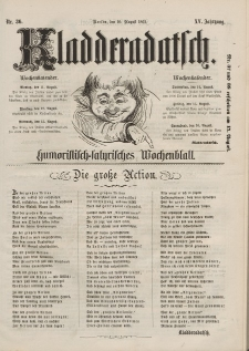 Kladderadatsch, 15. Jahrgang, 10. August 1862, Nr. 36