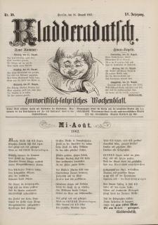 Kladderadatsch, 15. Jahrgang, 24. August 1862, Nr. 39