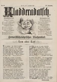 Kladderadatsch, 15. Jahrgang, 7. September 1862, Nr. 41