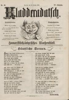 Kladderadatsch, 15. Jahrgang, 26. Oktober 1862, Nr. 49