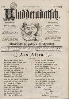 Kladderadatsch, 15. Jahrgang, 2. November 1862, Nr. 50