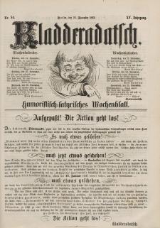 Kladderadatsch, 15. Jahrgang, 23. November 1862, Nr. 54