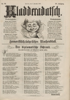 Kladderadatsch, 15. Jahrgang, 7. Dezember 1862, Nr. 56