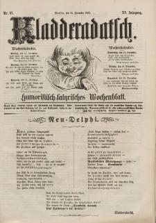 Kladderadatsch, 15. Jahrgang, 14. Dezember 1862, Nr. 57