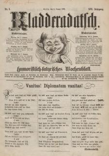 Kladderadatsch, 16. Jahrgang, 4. Januar 1863, Nr. 1