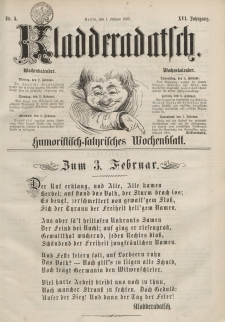 Kladderadatsch, 16. Jahrgang, 1. Februar 1863, Nr. 5