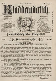 Kladderadatsch, 16. Jahrgang, 22. März 1863, Nr. 13