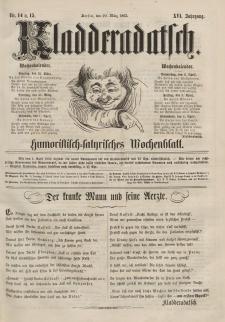 Kladderadatsch, 16. Jahrgang, 29. März 1863, Nr. 14/15