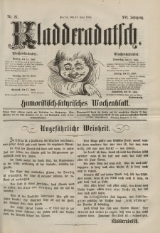 Kladderadatsch, 16. Jahrgang, 14. Juni 1863, Nr. 27