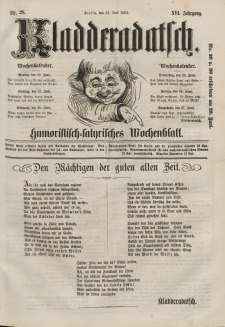 Kladderadatsch, 16. Jahrgang, 21. Juni 1863, Nr. 28