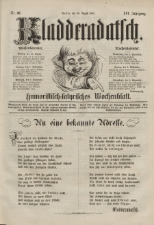 Kladderadatsch, 16. Jahrgang, 30. August 1863, Nr. 40
