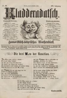 Kladderadatsch, 16. Jahrgang, 25. Oktober 1863, Nr. 49