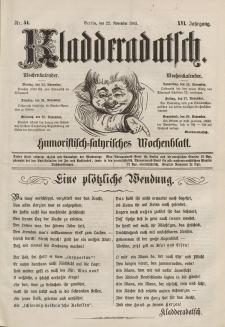 Kladderadatsch, 16. Jahrgang, 22. November 1863, Nr. 54